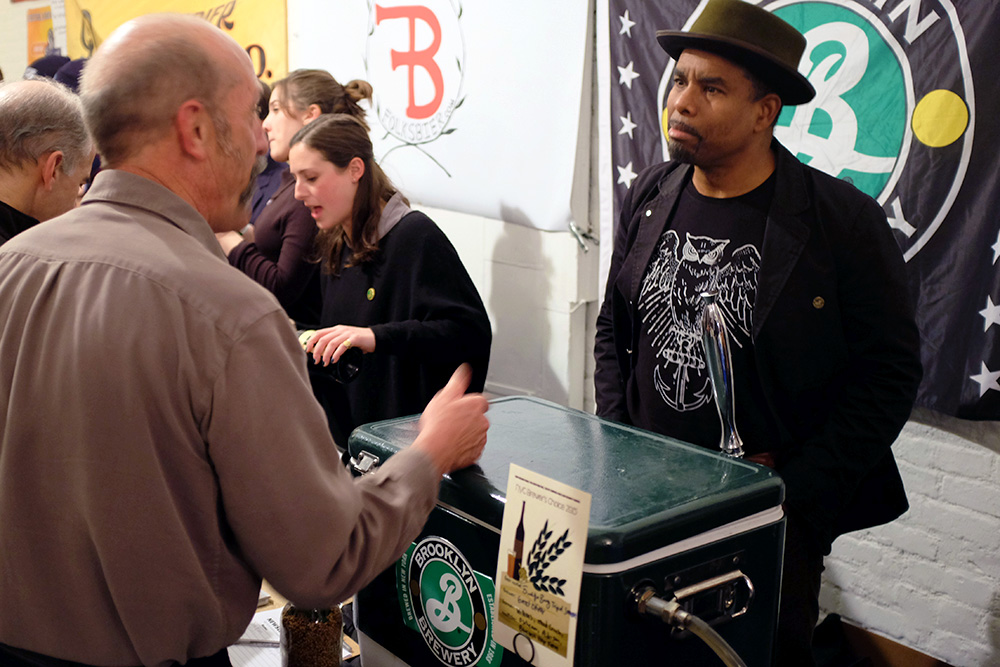 Garrett Oliver of Brooklyn Brewery and Pat Mcilhenney of Alpine Beer Company talk during NYC Brewer's Choice 2015
