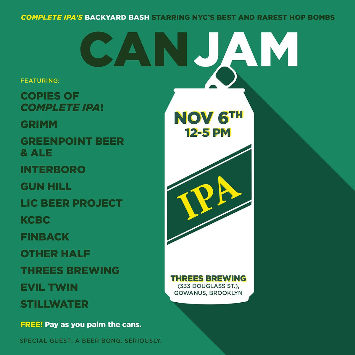 Can Jam at Threes Brewing