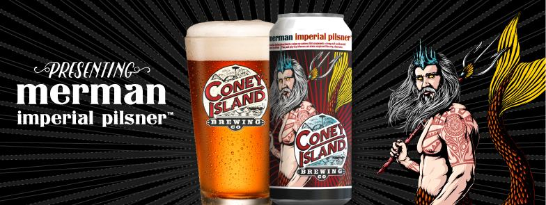 Coney Island Can Release MerMan Imperial Pilsner
