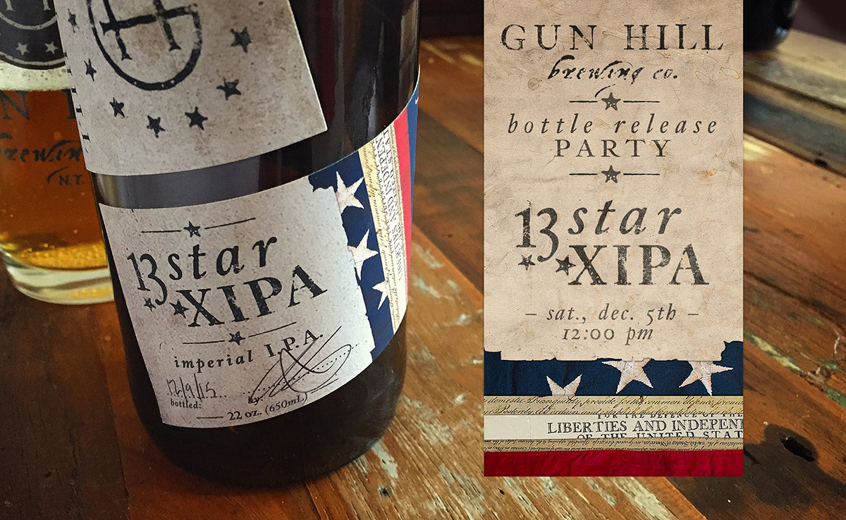 Gun Hill Brewing 13 Star Imperial IPA Bottle Release Party