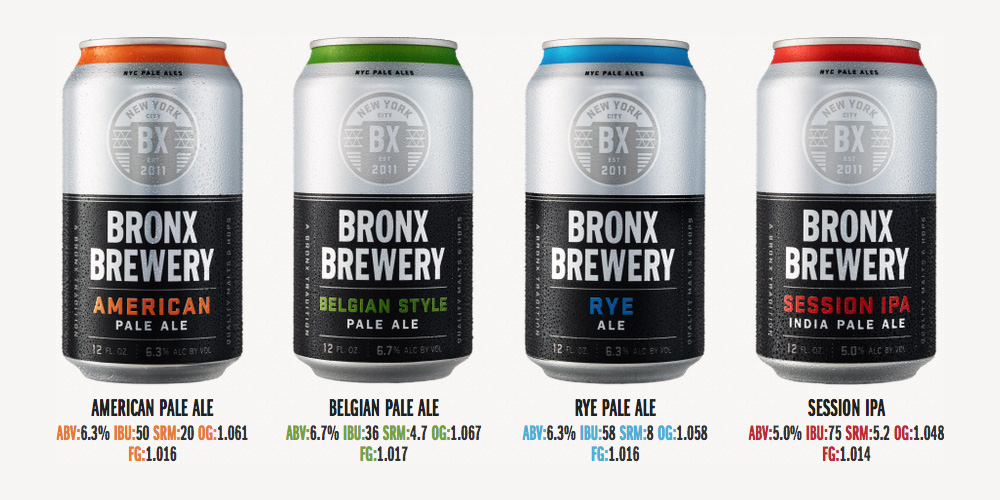 New Bronx Brewery Cans