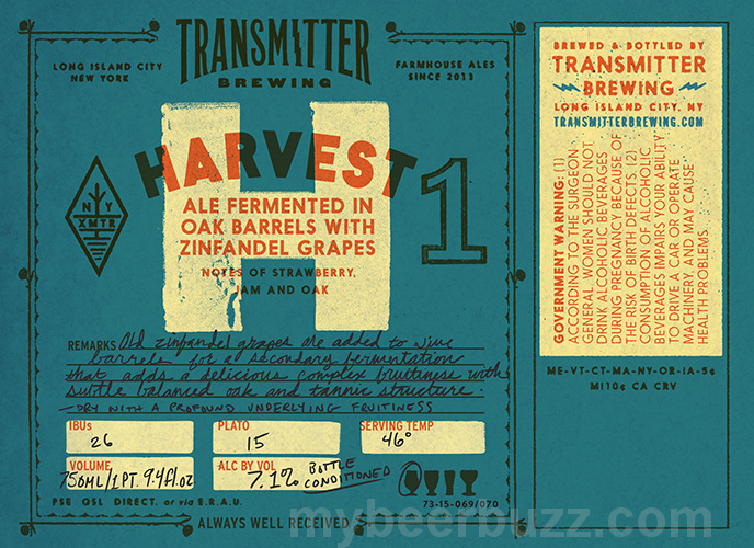 New Release: Harvest 1 & 2 from Transmitter Brewing
