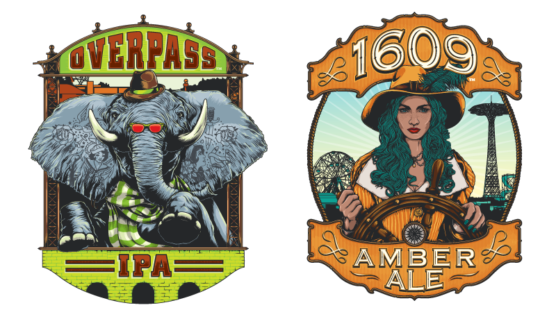 New Releases: Overpass IPA and 1609 Amber Ale from Coney Island Brewing