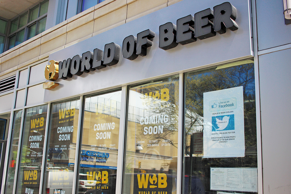 The new World of Beer Chelsea location will open in June.
