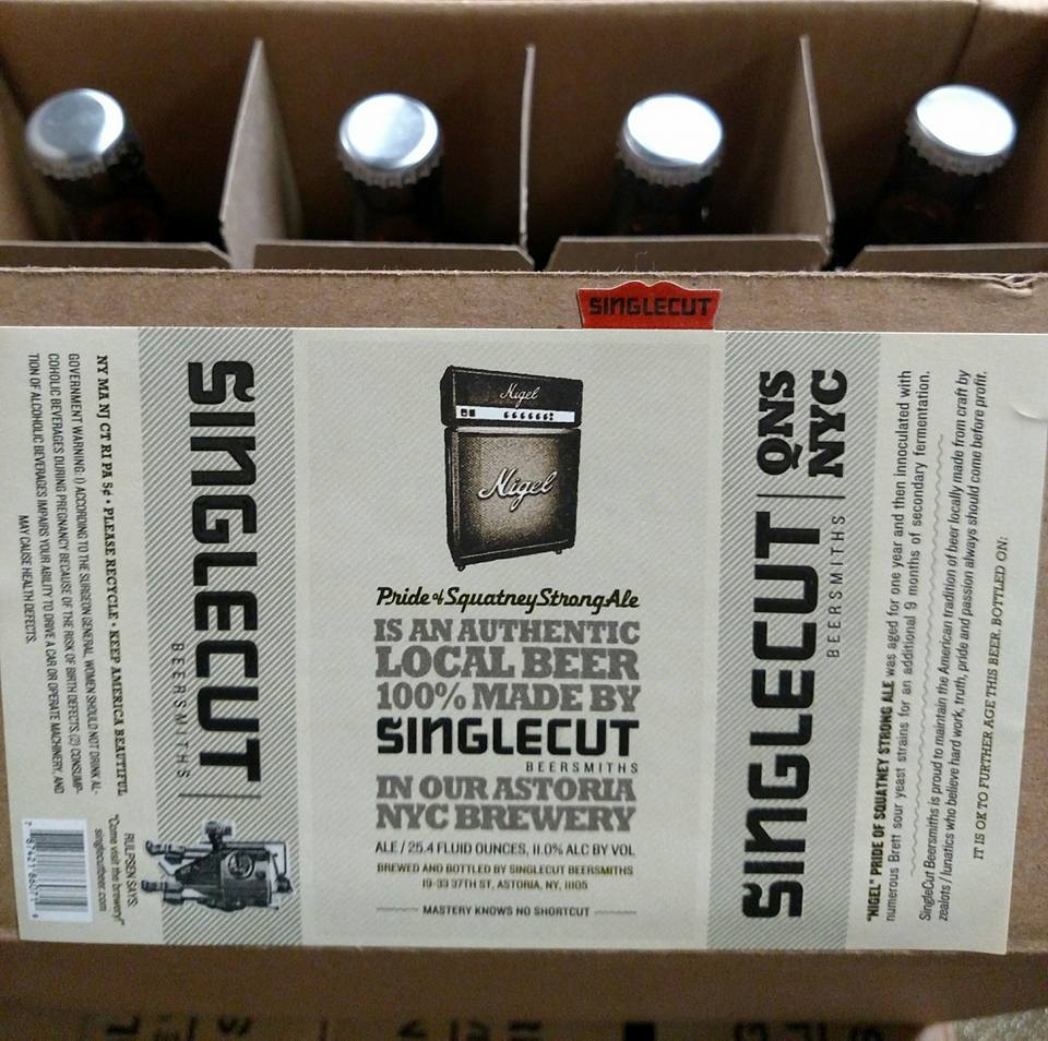 SingleCut Beersmiths Nigel Pride of Squatney Strong Ale anniversary bottle release