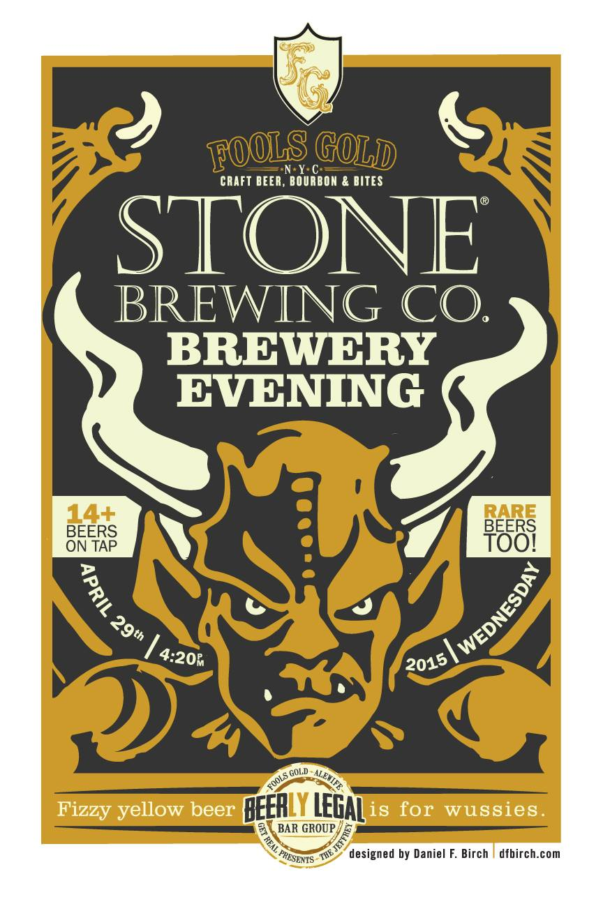 Stone Brewing Tap Takeover at Fools Gold   NY Craft Beer Guide