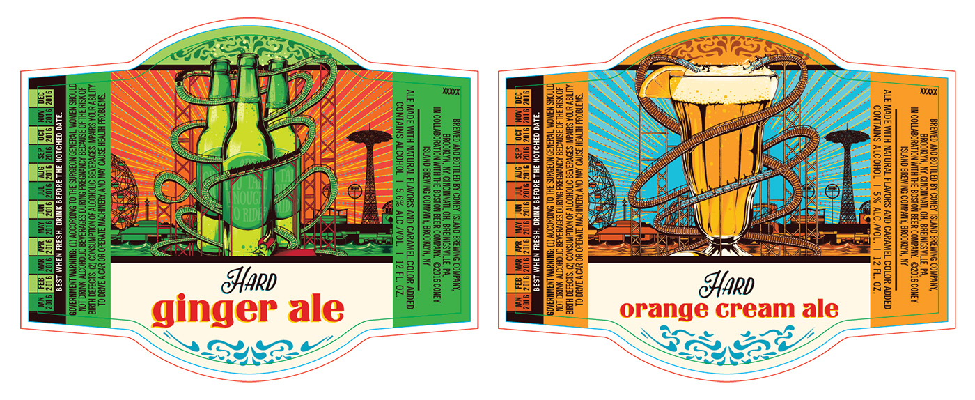 Coney Island Hard Soda Line Expands with Orange Cream Ale and Ginger Ale